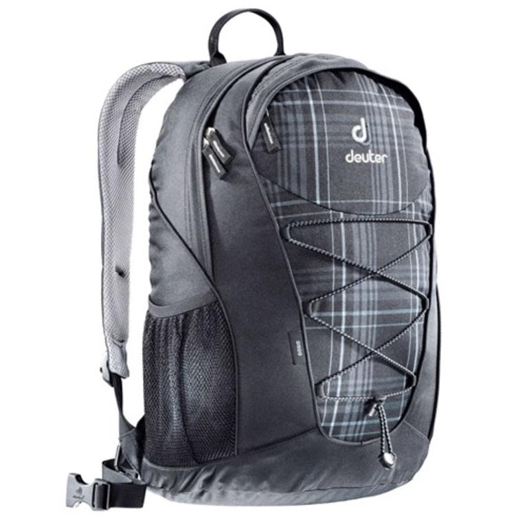 deuter go go 25l backpack black check. Black Bedroom Furniture Sets. Home Design Ideas