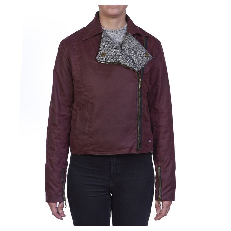 Womens Clipsham Biker Jacket (Oxblood)