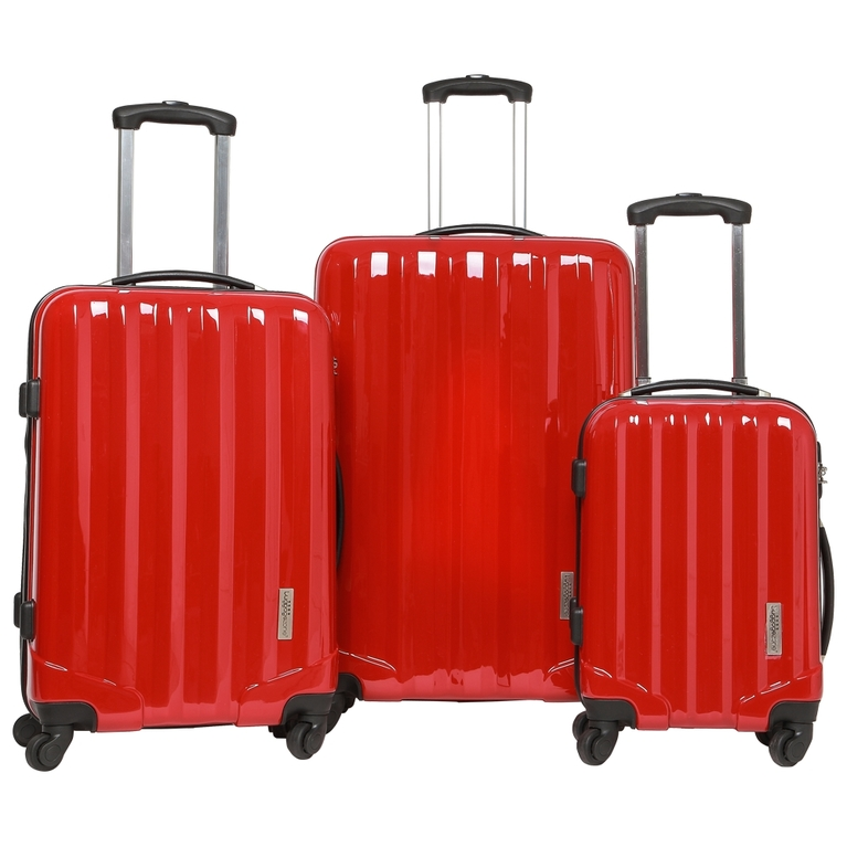 Luggage Zone Hard Set of 3 LZ8115 Suitcases (Red) | Sportpursuit ...