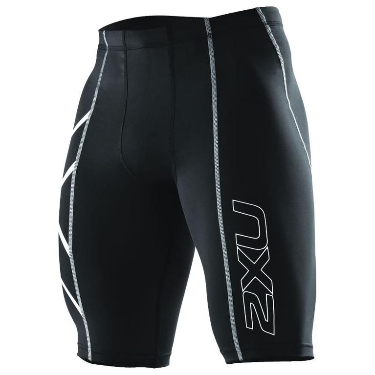 Mens Compression Shorts (Black/Silver)