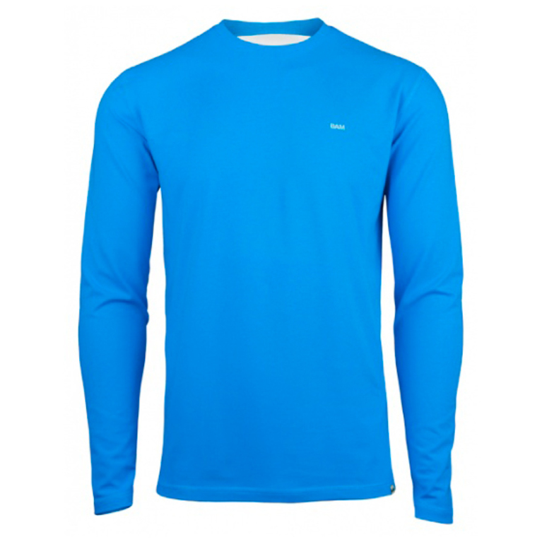 mens bamboo long sleeve t shirt malibu blue