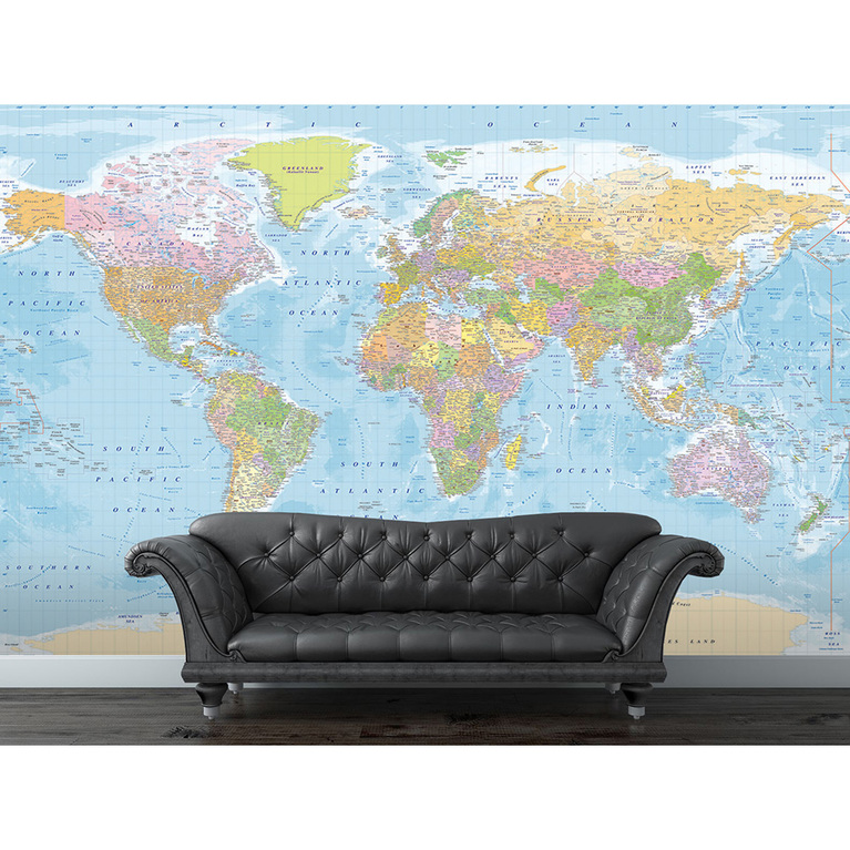 1 wall blue map giant mural version 7 for 8 sheet giant wall mural