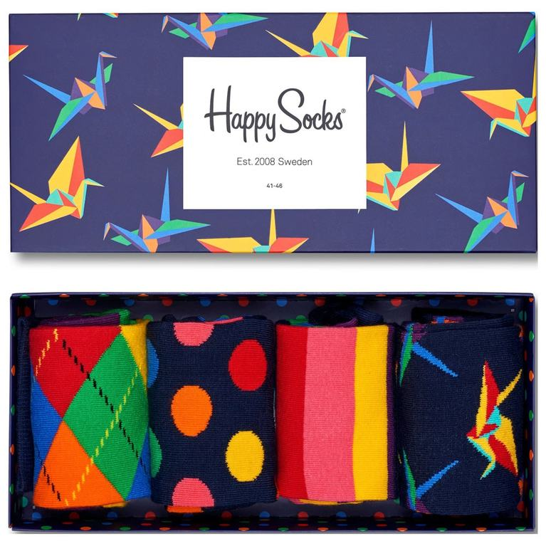 Happy Socks (4 Pack - Multi)