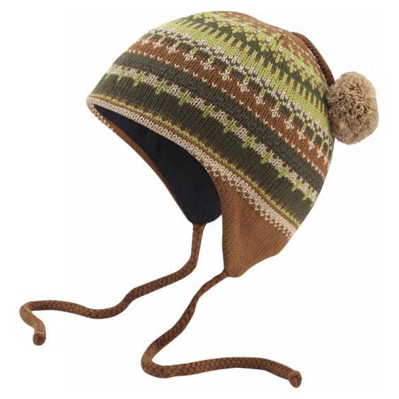 Ear Flap Hat (Brown/Grey)