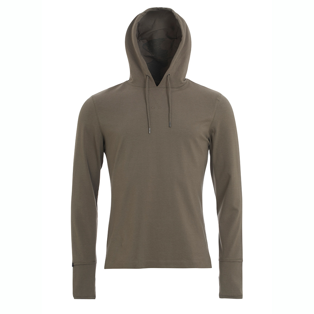 Mens The Ascent Lightweight Hoodie (Petrified Wood)