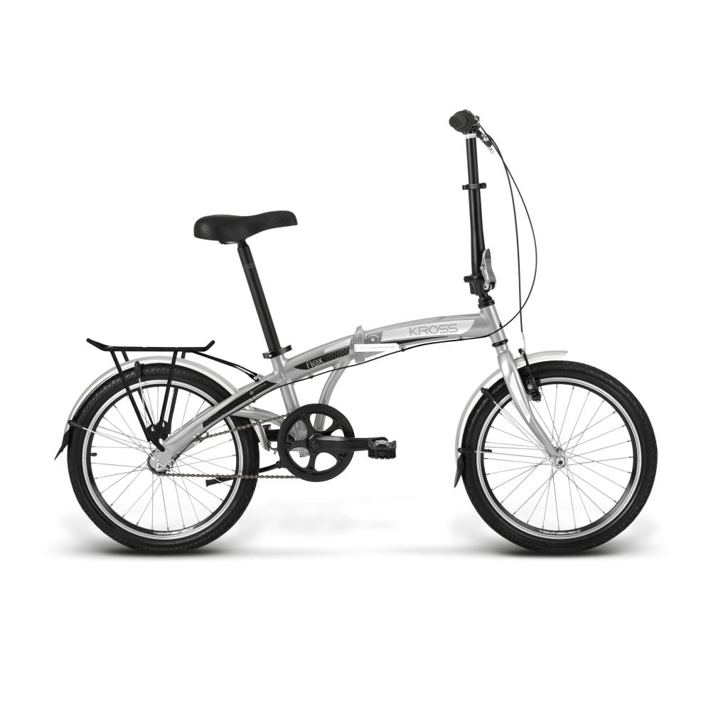 Flex 1.0 Folding Bike (Silver/Black/White Glossy)