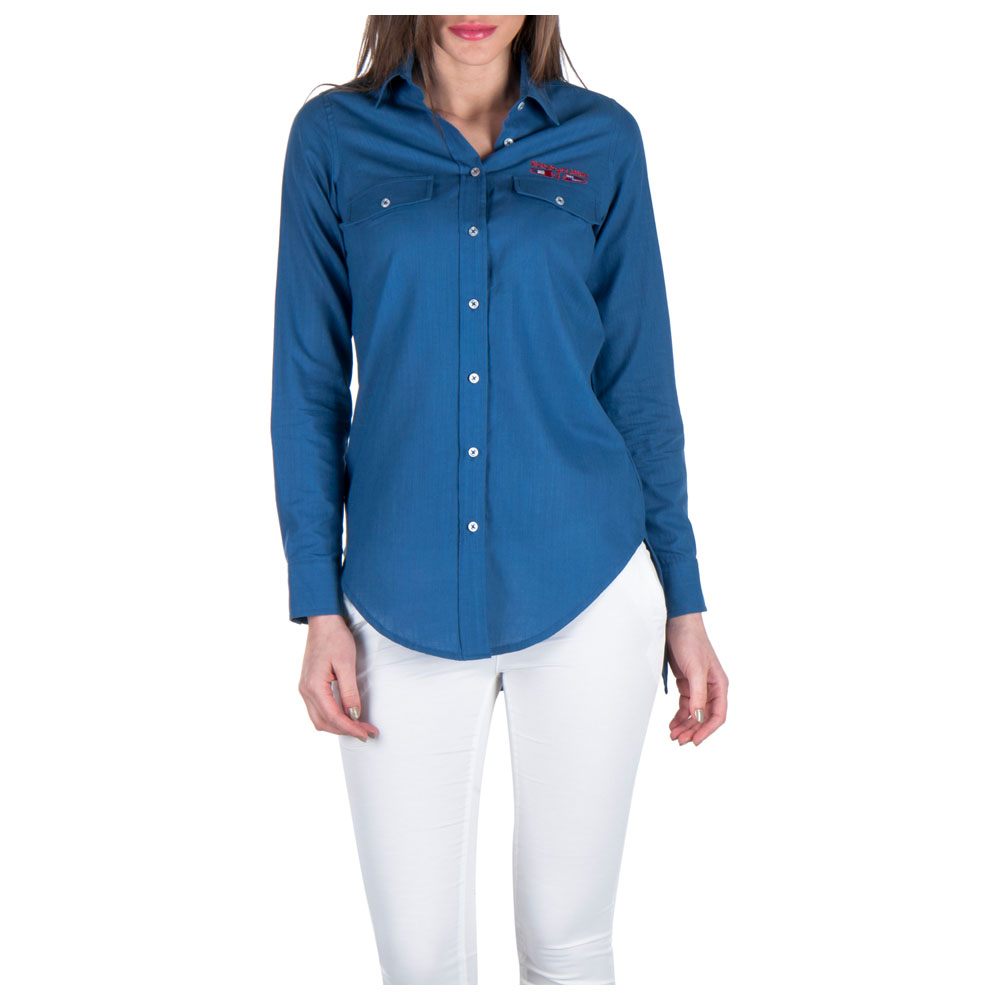 Womens Tunic Shirt (Indigo)