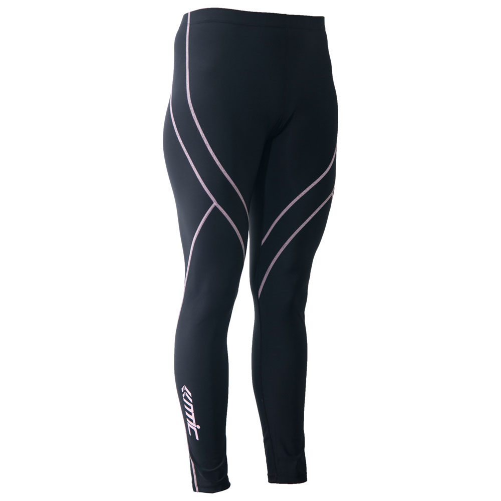 Womens Compression Tights (Black/Pink)