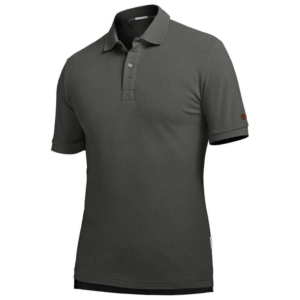 Mens Alpha 210g Merino Polo Shirt (Eucalyptus/Rust)
