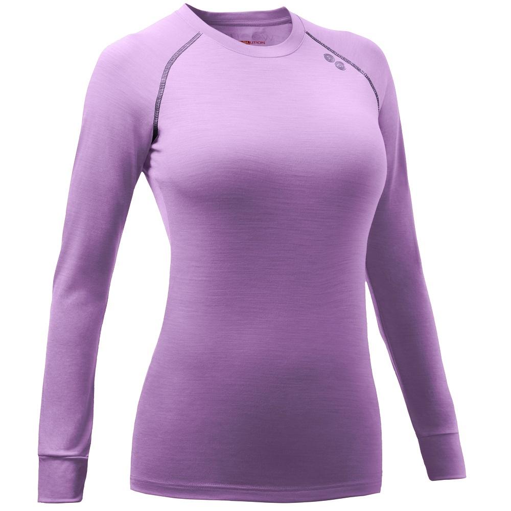 Womens Wiki 190g Merino Long Sleeve Top (Mauve/Prune)