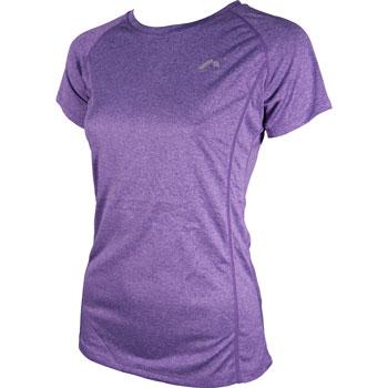 Womens Marl Short Sleeve Top (Berry)