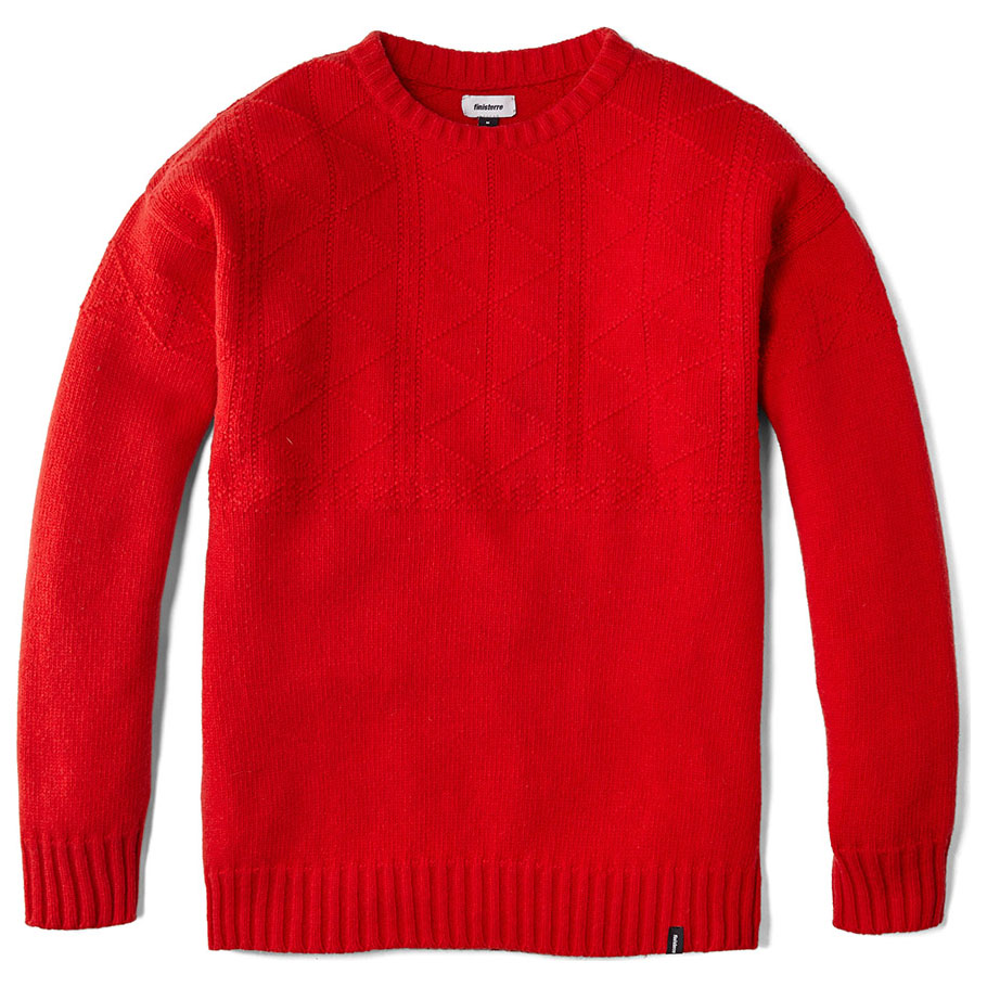 Mens Polperro Knitted Pullover (Signal Red)