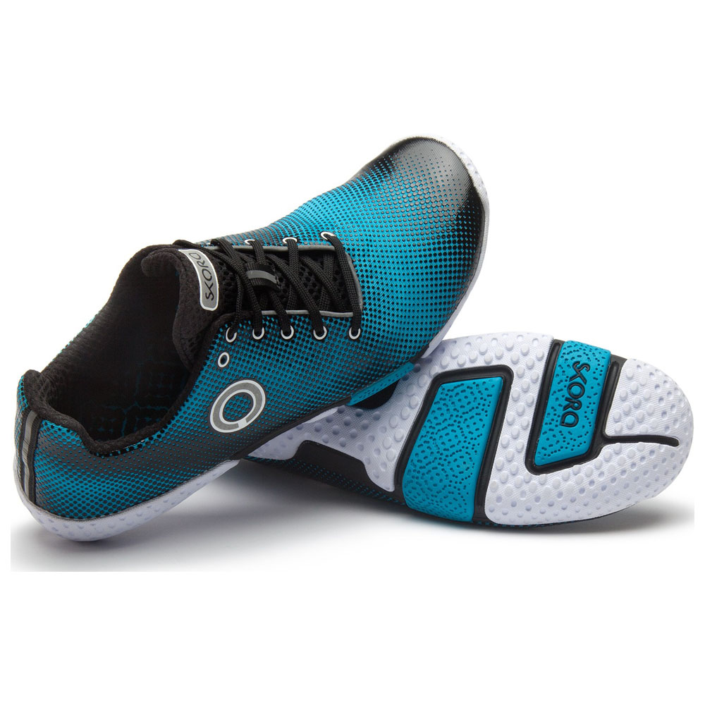 Mens Fit Shoes (Cyan/Black/White)