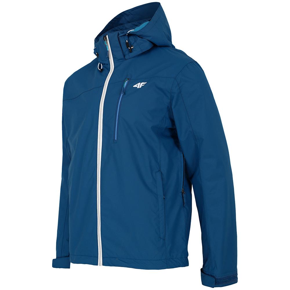 Mens Waterproof Hooded Jacket (Dark Navy)