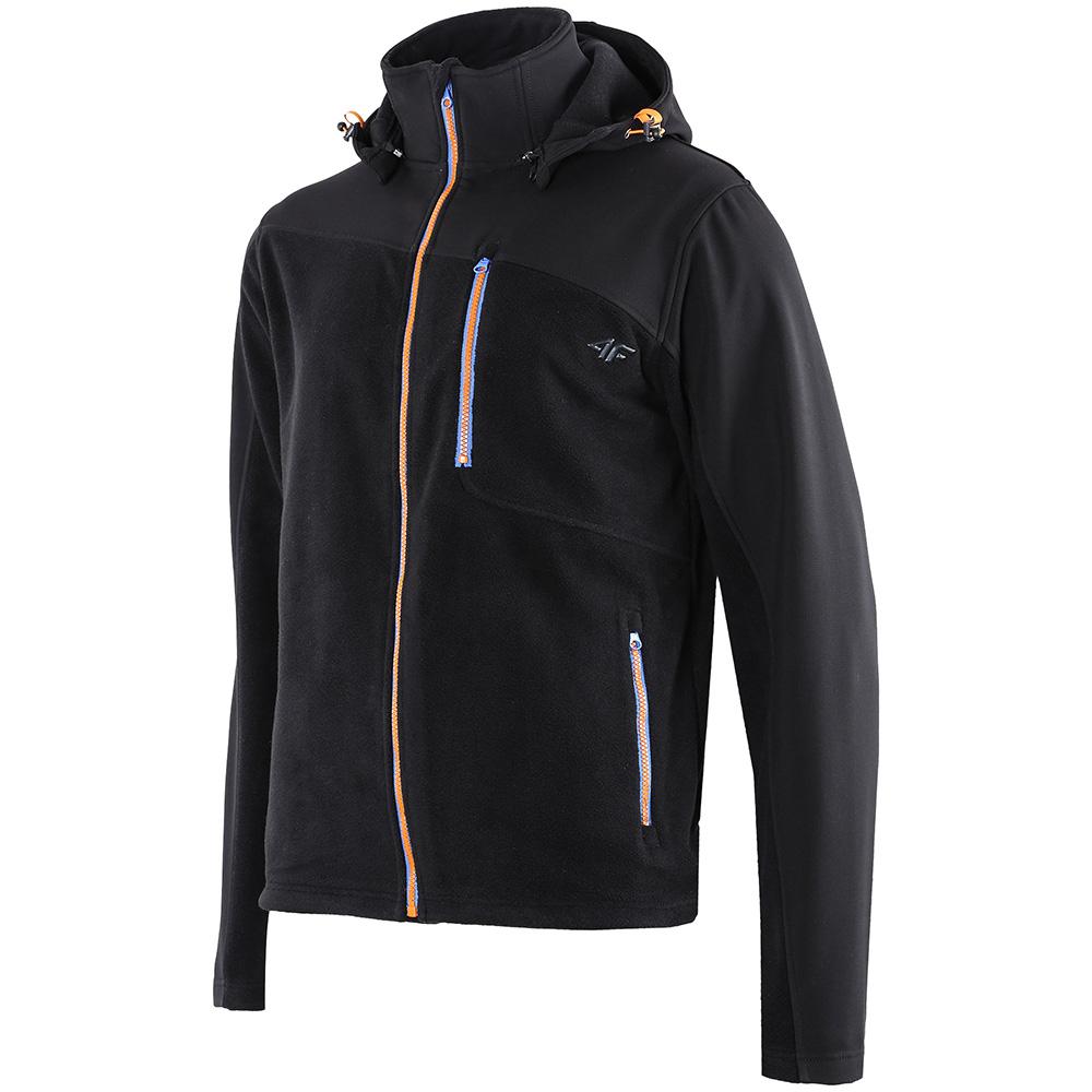 Mens Detachable Hood Fleece (Black)