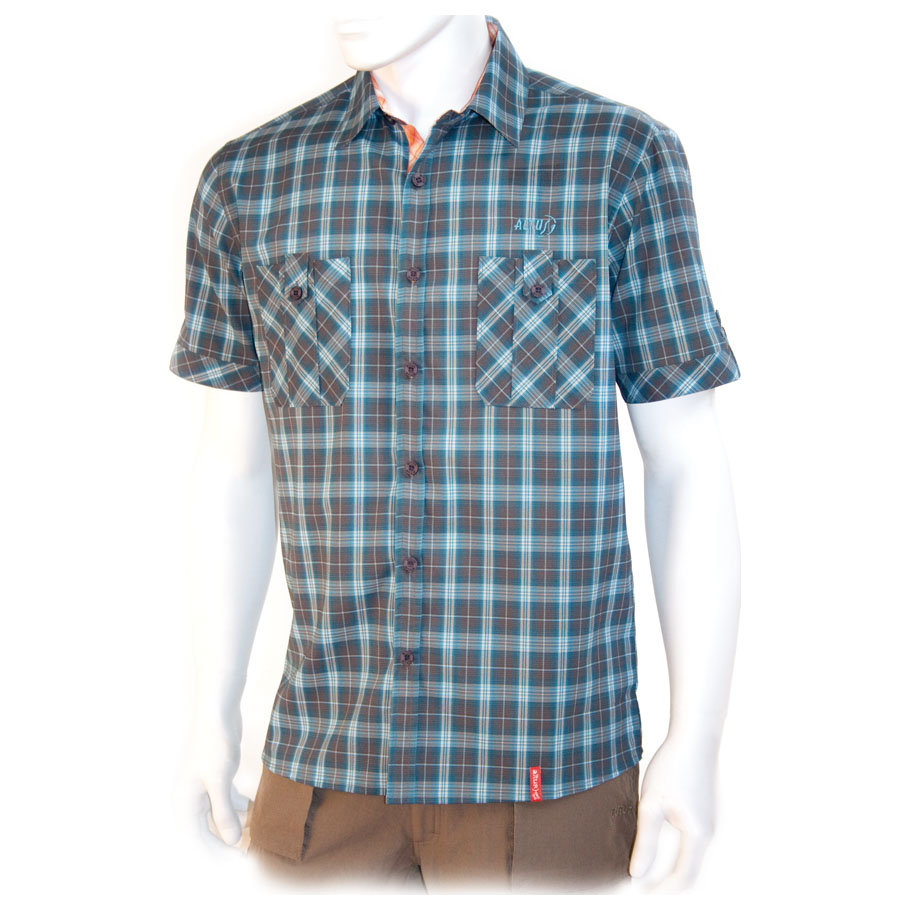 Mens Tanger Short Sleeve Shirt (Blue)