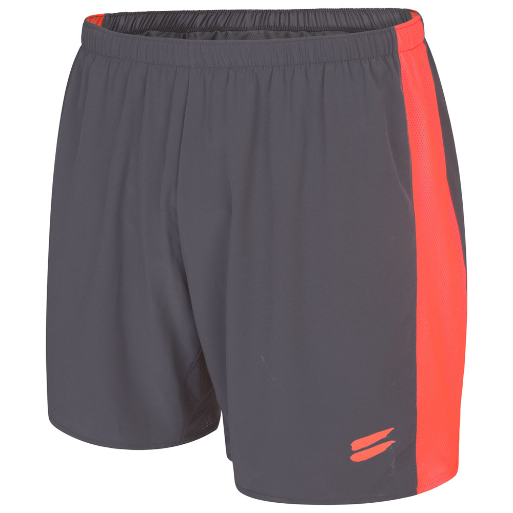 Mens Performance 5in Shorts (Charcoal/Fire Red)