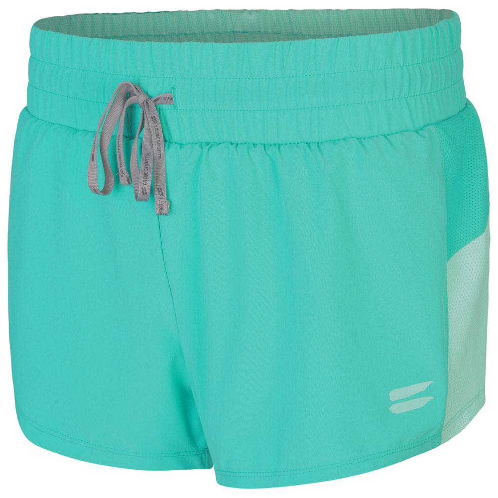 Womens Performance 2-In-1 Shorts (Turquoise)