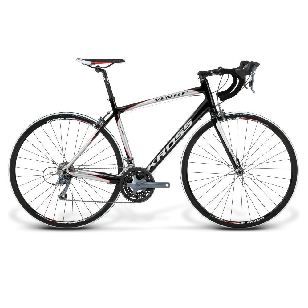 Vento 1.0 Road Bike (Black/Silver/Red Glossy)