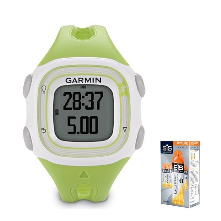 Garmin Forerunner 10 (White/Green) With 6 x 60ml SiS Energy Gels