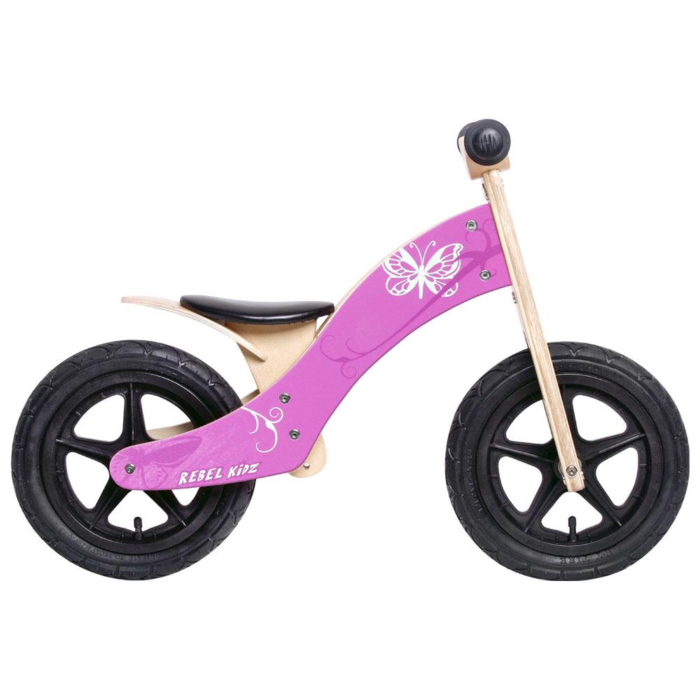 Kids Wooden Balance Bike (Pink)