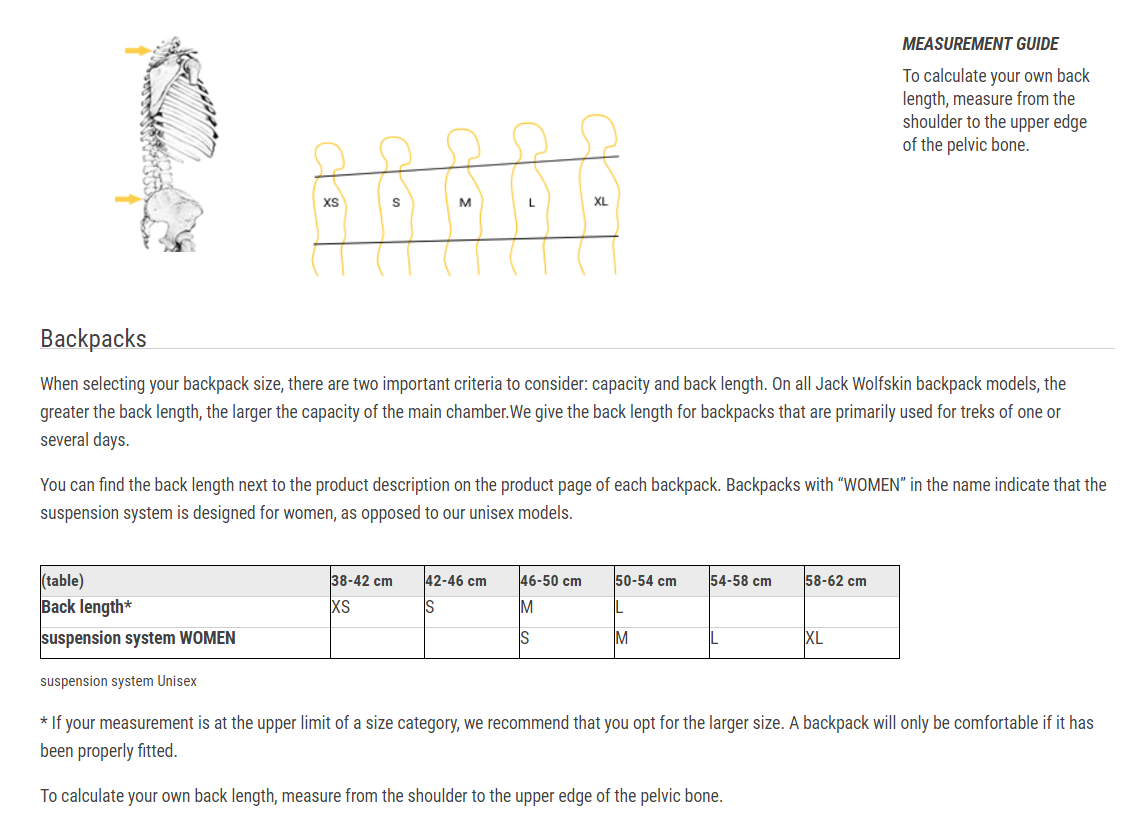 Jack wolfskin size guide share and get 5 credit geenschuldenfo Image collections