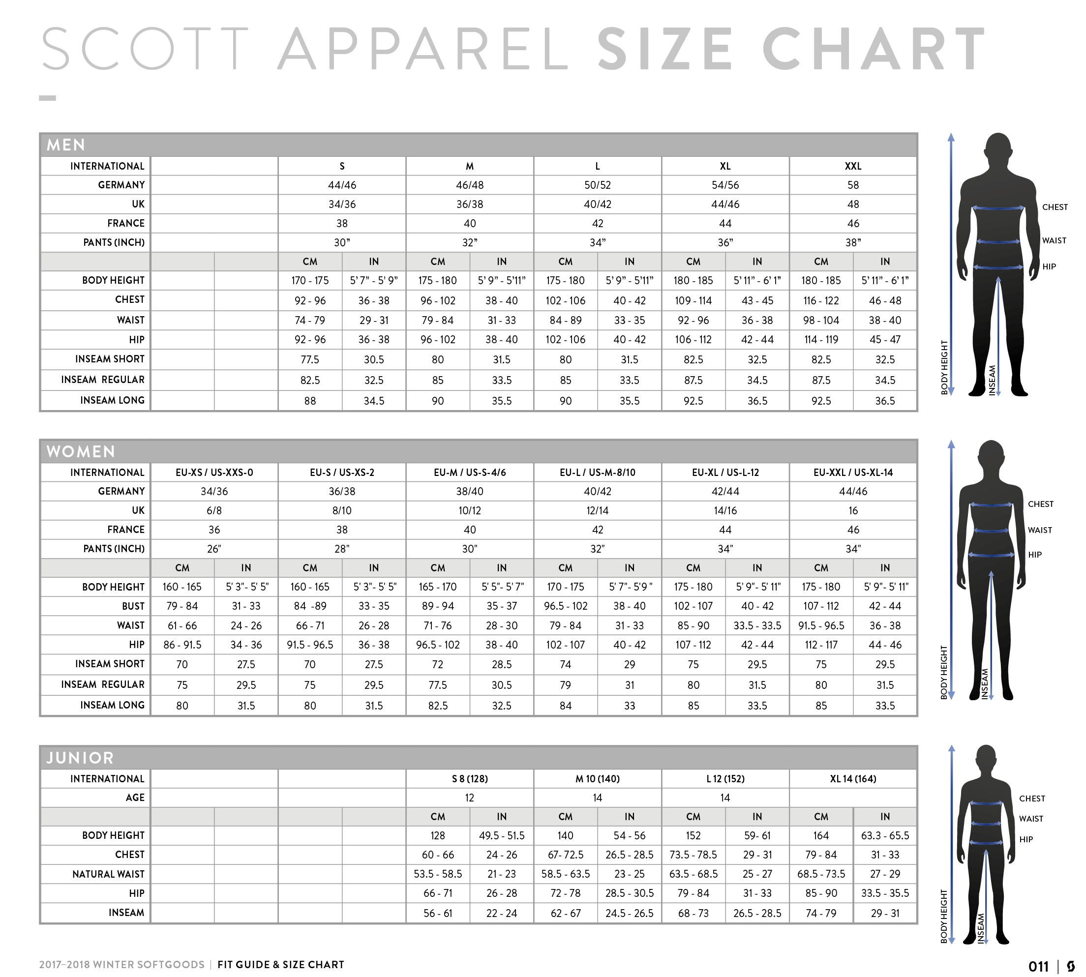 Scott Sports Size Guide