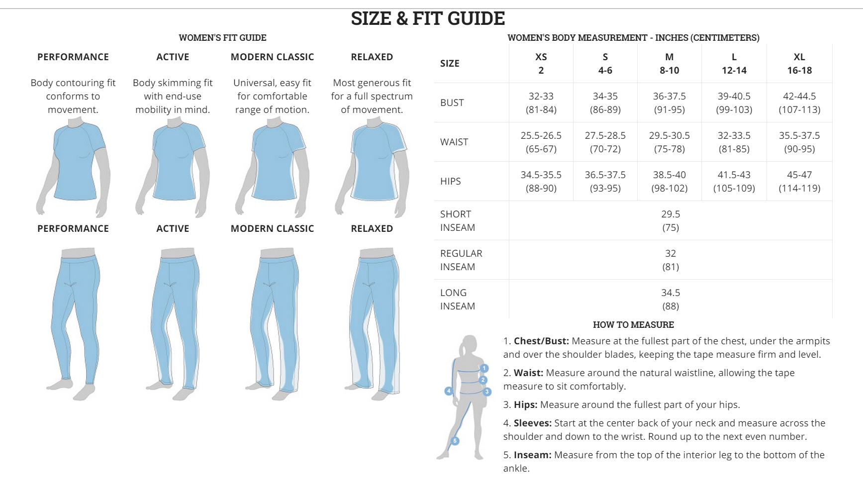 855e7d0ddfe Columbia Size Charts - Outdoor Sports