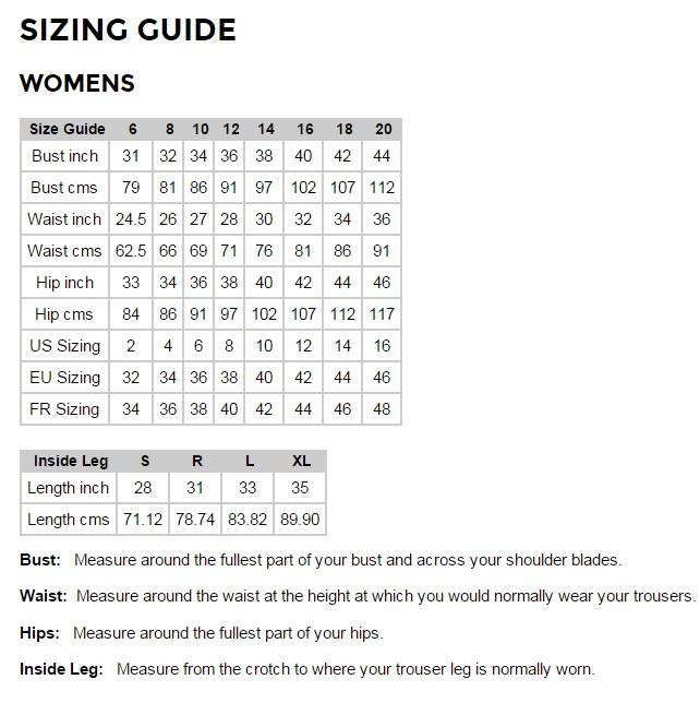 7a92f2a0e9 Craghoppers Size Guide