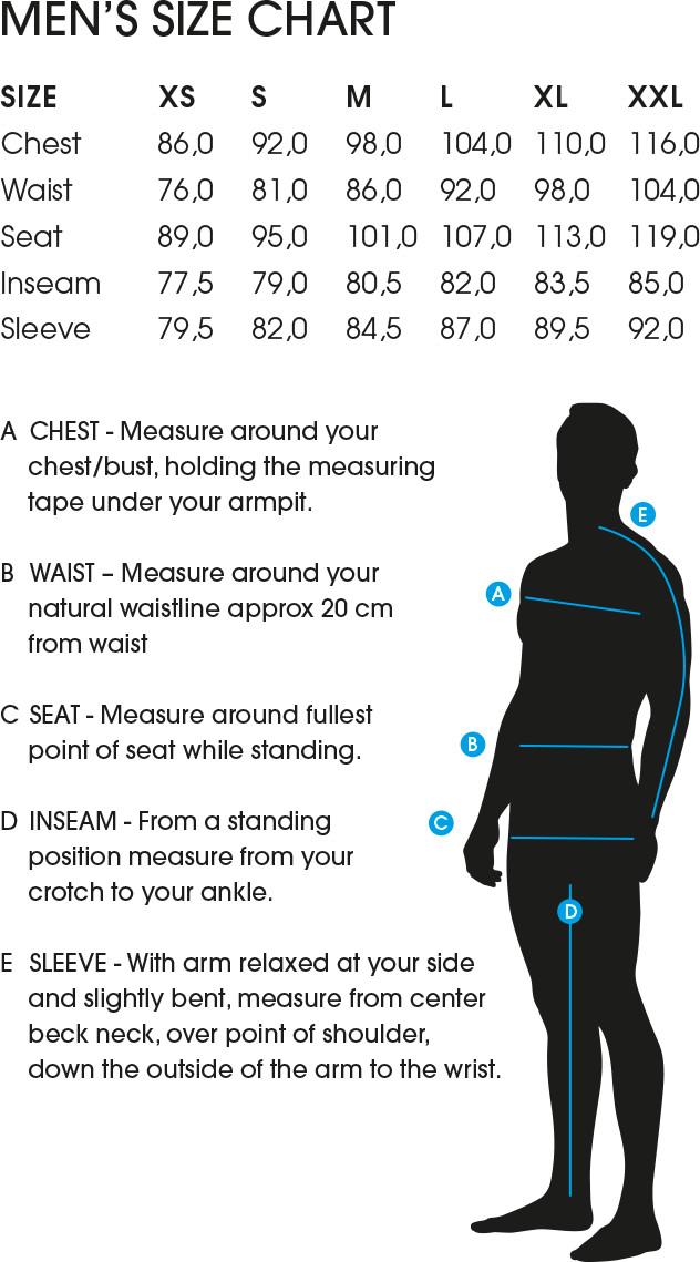 Elevenate Size Guide