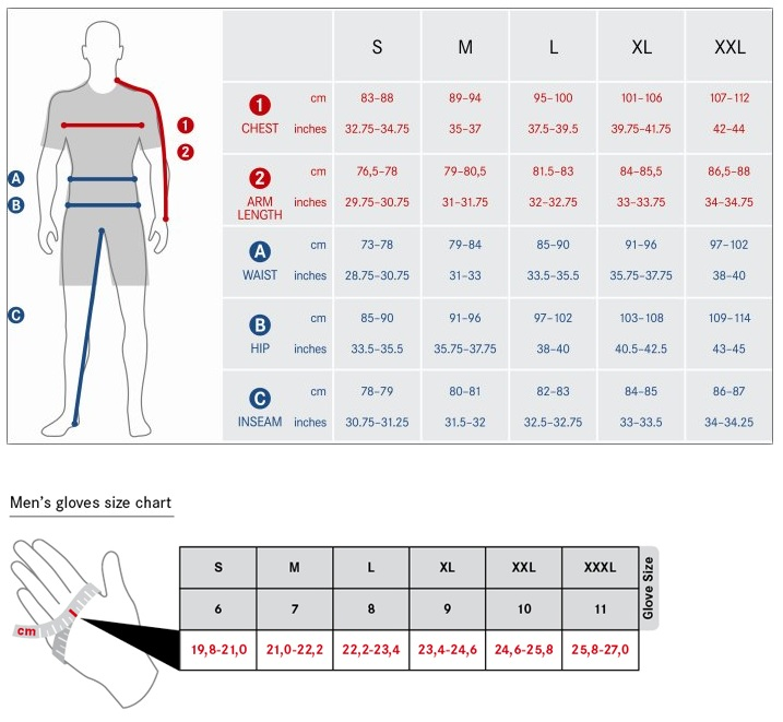 Craft Cycle Clothing Size Guide