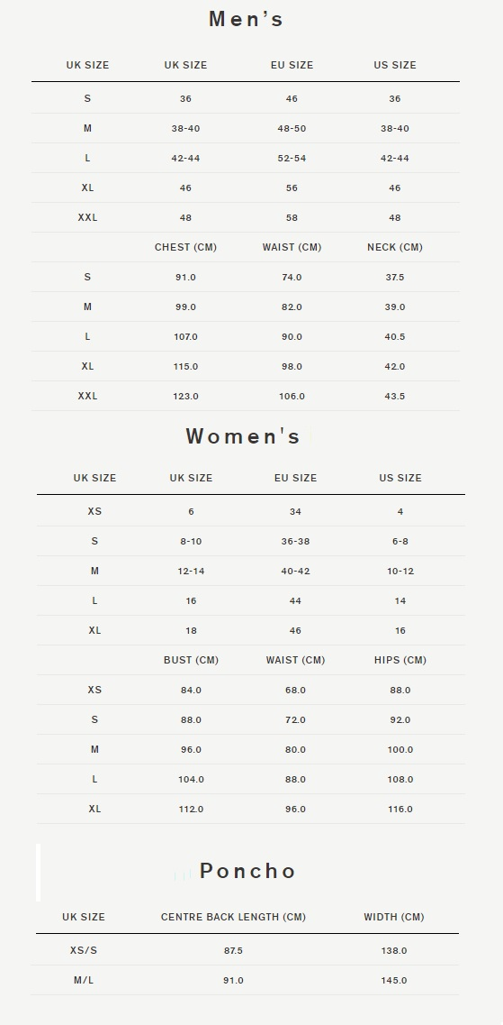 Clothing Size Guide | Footwear Size Guide