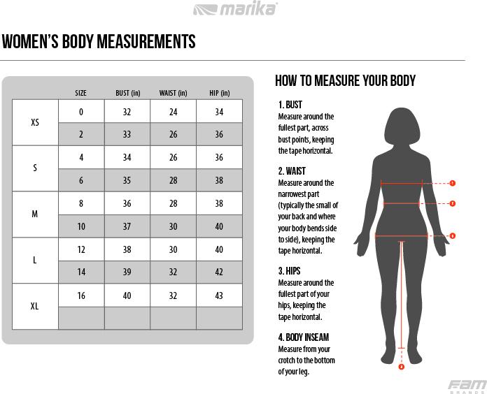 Marika Womens Size Guide