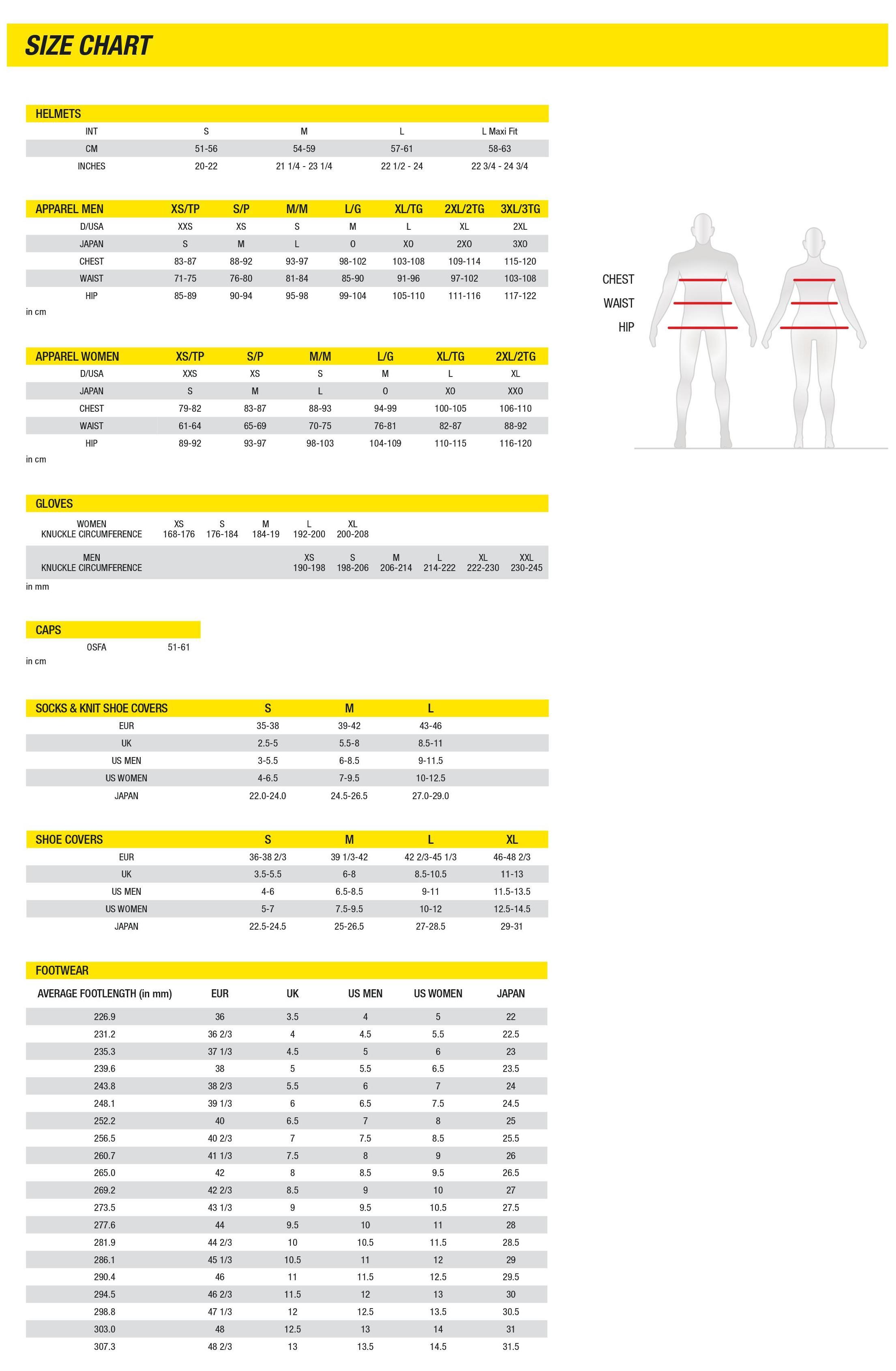 Berghaus Shoe Size Guide