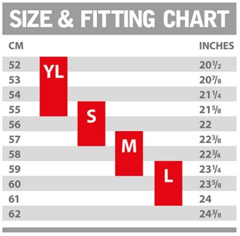 Ruroc Size Guide