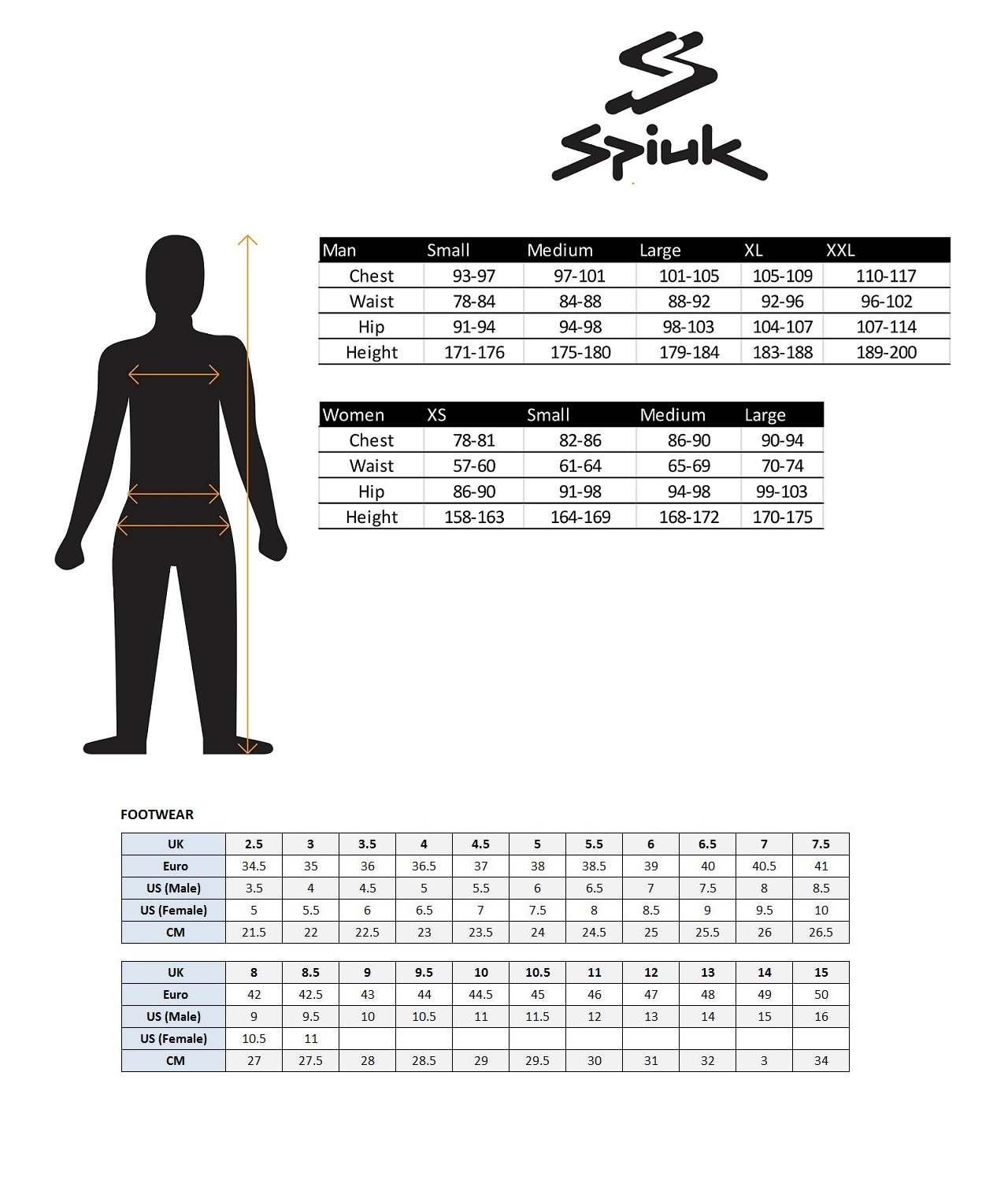 Spiuk Size Guide