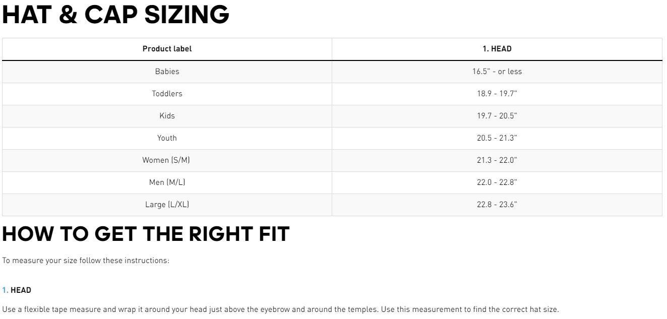 40c31feb3e7 Footwear adidas footwear size guide JPG 1323x633 Cap sizing